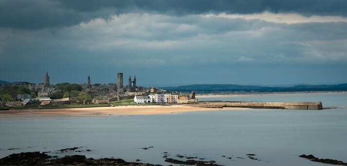 The University of St Andrews was founded in the 15th century, making it the third oldest in the English-speaking world,