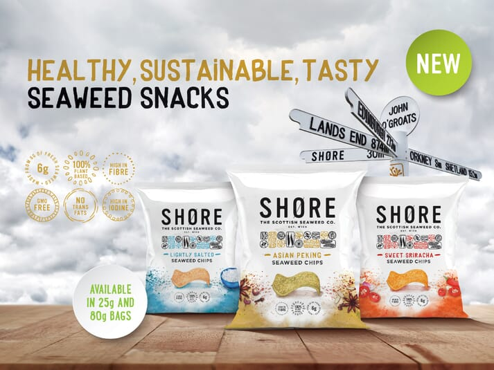 The end result: a selection of Shore's own brand seaweed chips