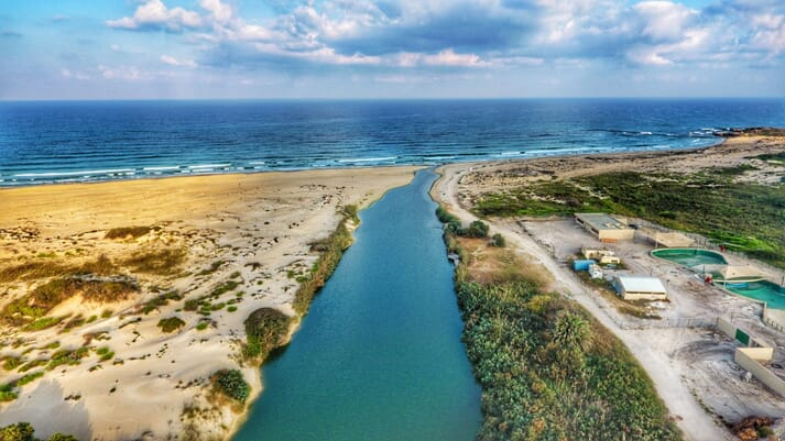 The Alexander River, in Israel, was chosen due to its high nitrogen levels