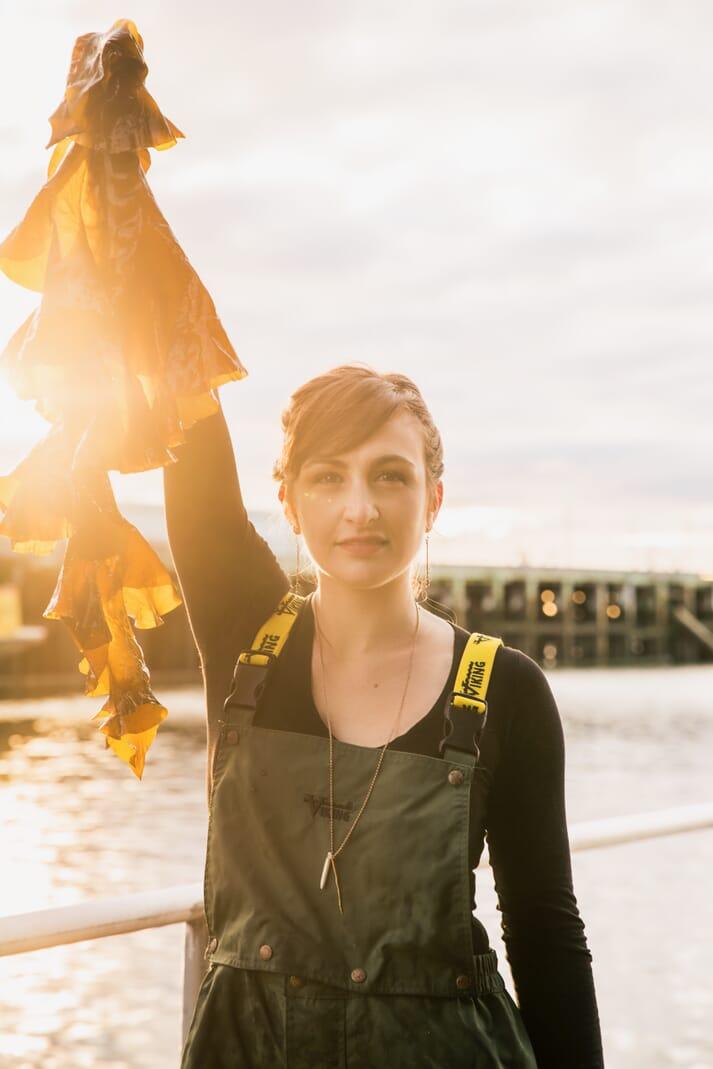 Briana Warner, CEO of Atlantic Sea Farms