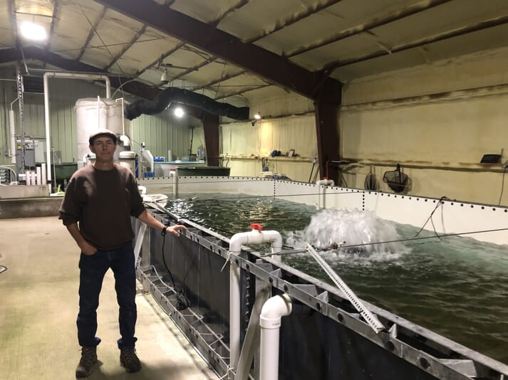 Dave Macek has overseen the development of the trout farm
