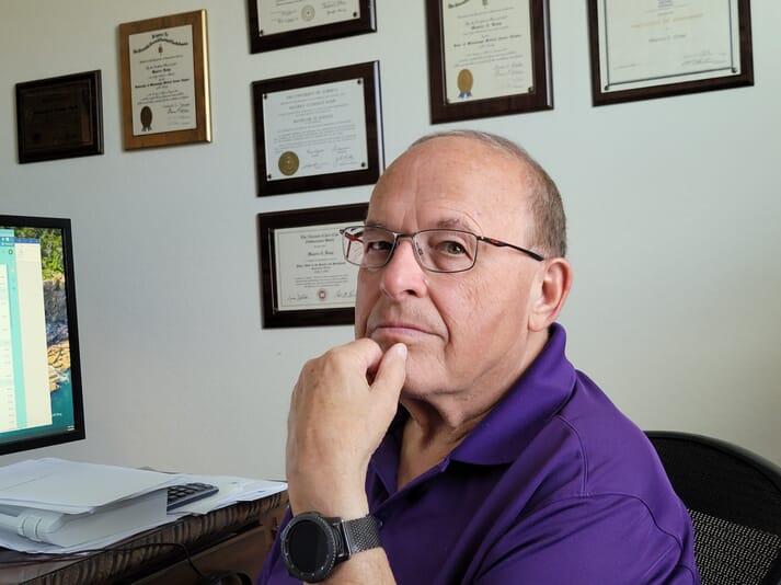Dr Maurice Kemp, founder and president of the Arizona shrimp farming startup Royal Caridea