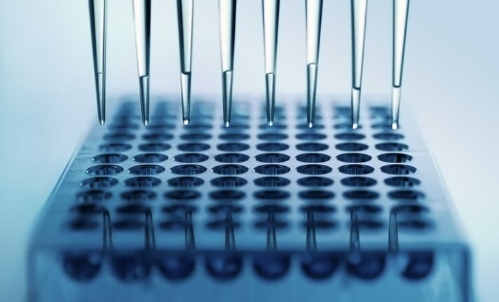Close-up image of micropipettes