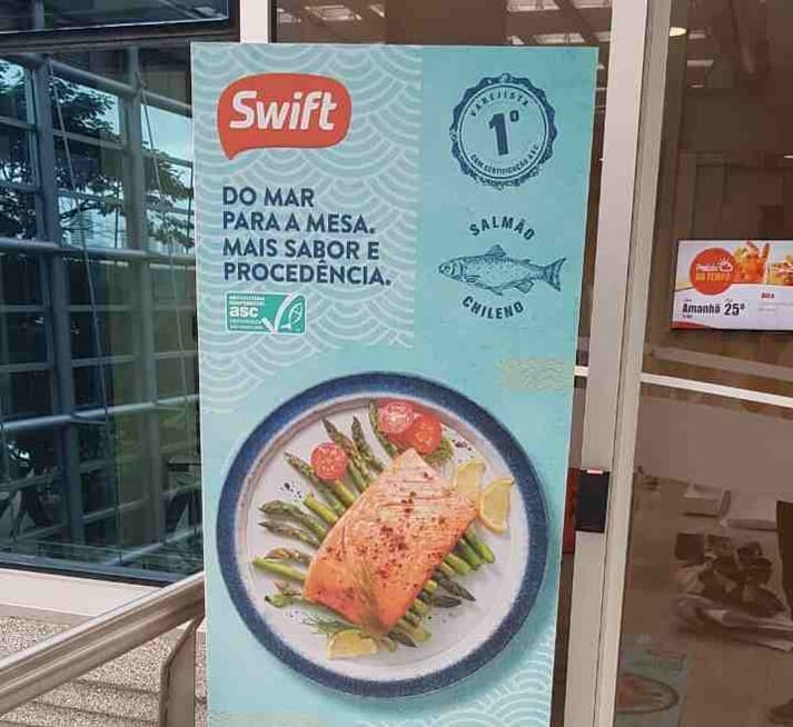 Salmon sourced from Cermaq's ASC-certified farms is now for sale at Brazilian supermarket chain Swift