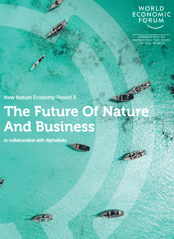 WEF's Future of Nature and Business was published today