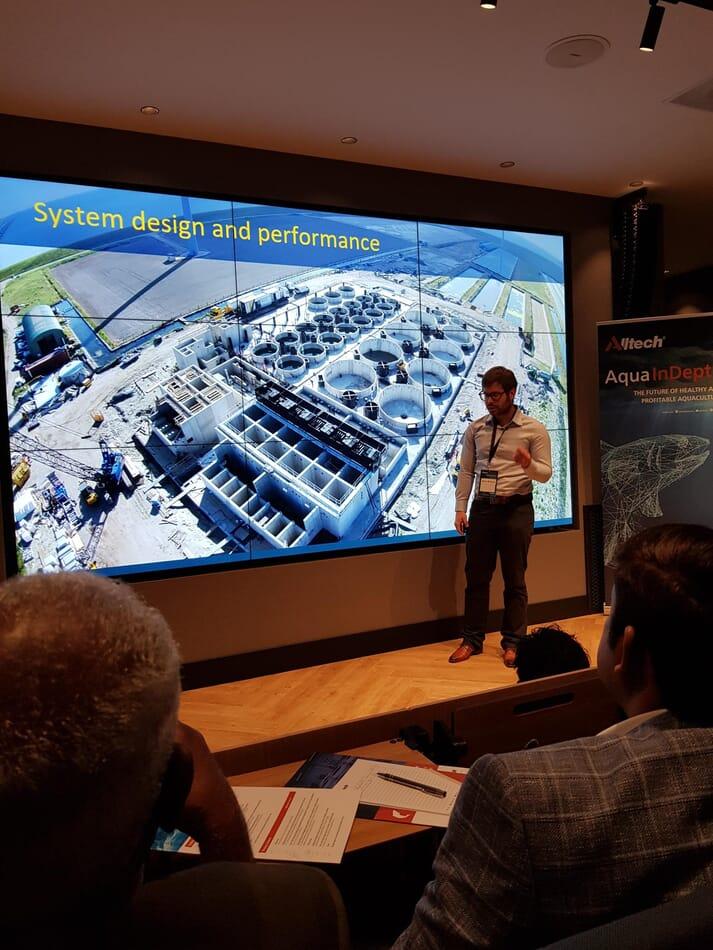 Bram Rohaan gave Aqua InDepth delegates a virtual tour of the Kingfish Zeeland RAS facility