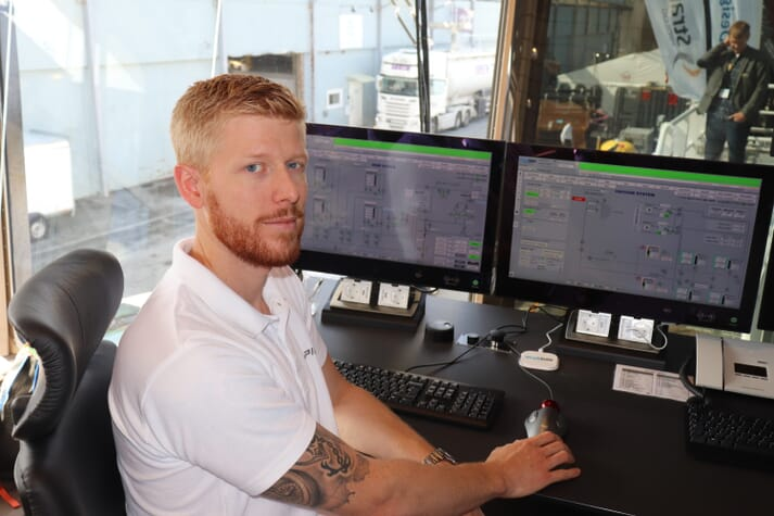 Christoffer Eidesvik, captain of the Taupiri, is enthusiastic about the Desline system