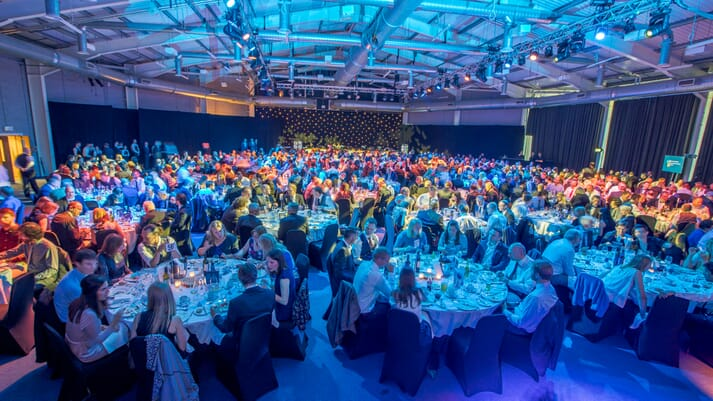 Attendees at the 2018 Aquaculture Awards dinner, in Aviemore
