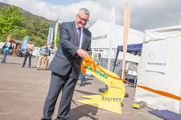 Aquaculture UK was opened by Scotland's cabinet secretary for rural affairs, Fergus Ewing, in 2018