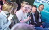 The Women in Aquaculture event attracted a capacity crowd and plenty of questions, including one from Jo Gosling of ARCH UK thumbnail