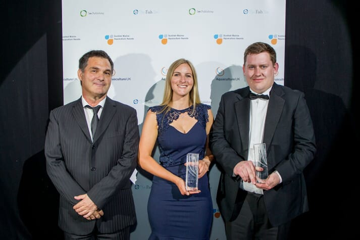 Lynne was a joint winner of the inaugural Rising Star category (along with Scott Mackay from Akva) at the Scottish Marine Aquaculture Awards