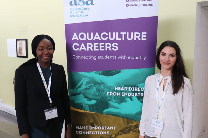 The day was organised by the Aquaculture Students' Association, including Elizabeth Buba and Athina Papadopoulou