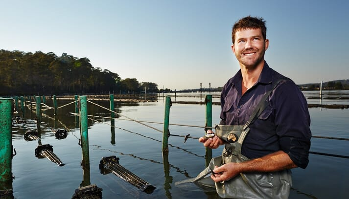 Ewan McAsh's farm has 30,000 oyster baskets in the water, of which 600-1,000 a day are handled and he came up with Smart Oysters as a way of keeping track of the status of each basket