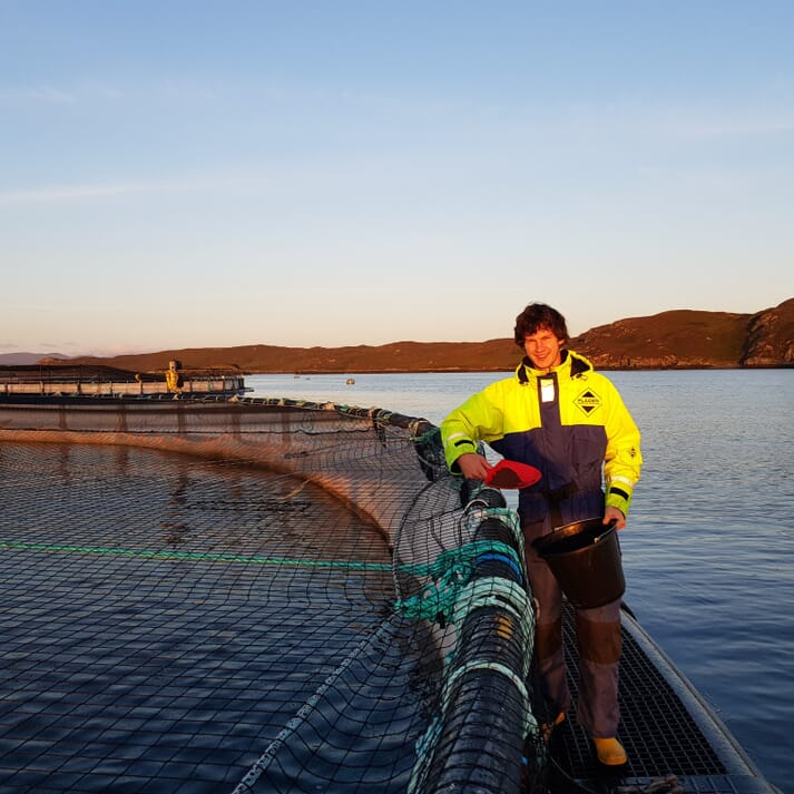 Ben Weis is now managing a salmon farm on Lewis