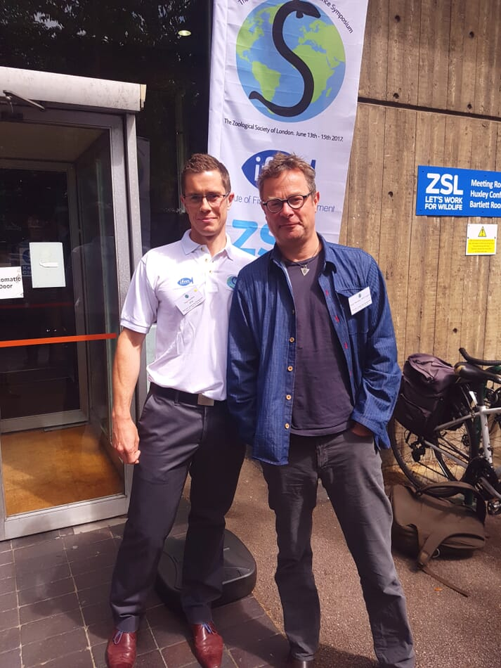 Paul Coulson (left) with sustainable fish champion Hugh Fearnley-Whittingstall