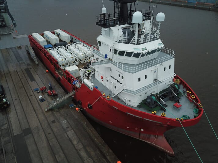 The new vessel has a capacity to clean the water used in a 3000 m3 wellboat in 3 hours