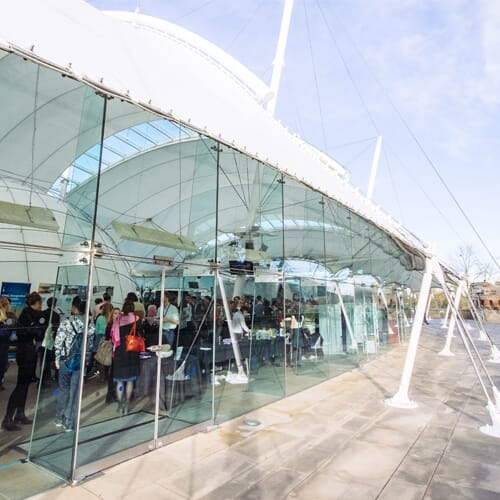 The event is taking place at Dynamic Earth, in Edinburgh