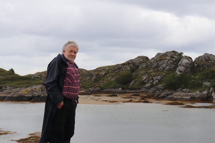 Jon Sherwood may be the Scottish aquaculture sector's longest-serving practitioner