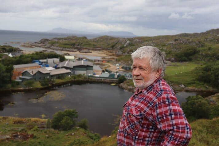 Jon Sherwood above Ardtoe Marine Laboratory, where he's been working since 1973