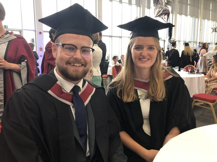 The awards were presented to Ellis Larcombe and Charlotte Spreadbury: future stars of the aquaculture sector?