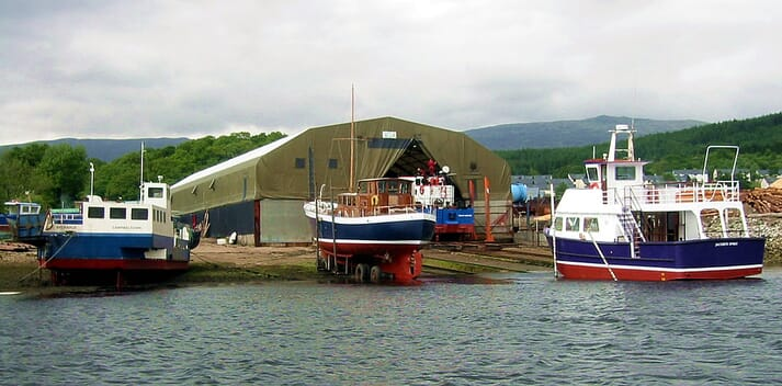 Gael Force plan to build steel feed barges at the Corpach Boatbuilding Company facility