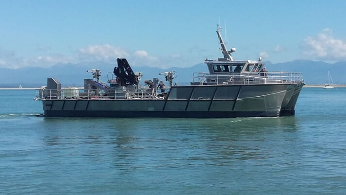 The Holmyards imported a new mussel harvesting vessel from New Zealand