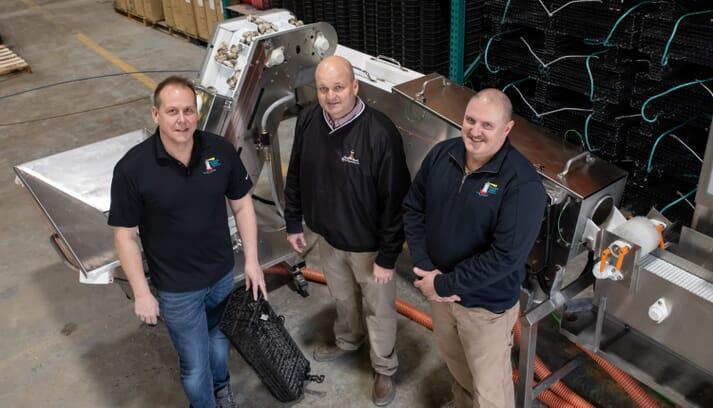 HIOC team and Pearlception:  (L to R) Chris Wyer, Senior Manager Equipment & Sales; Ricky Fitzhugh, Managing Partner; John Tall, Master Equipment Fabricator
