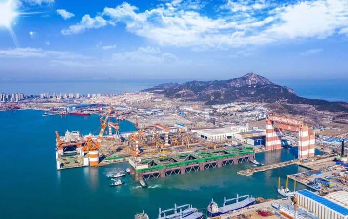 The 385-metre Havfarm 1 has been constructed at the CMC Raffles shipyard in Yantai, China