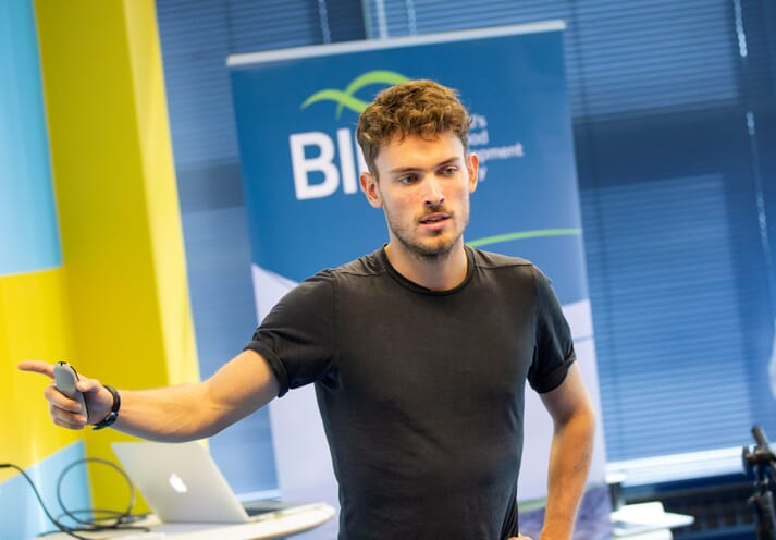 Hatch co-founder Georg Baunach was one of the mentors in BIM's previous aquaculture workshop