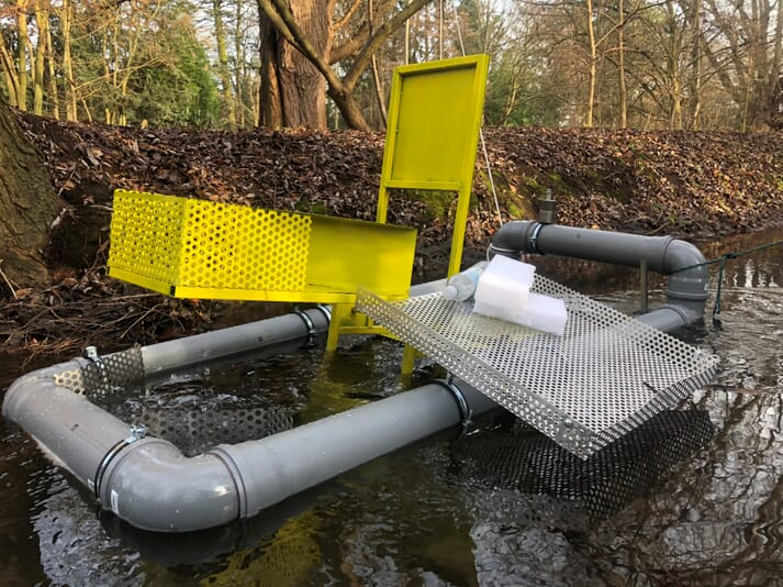 Georg Baunach's dedication to the aquatic environment is clear: he even invented a device to remove plastic flotsam and jetsam from rivers