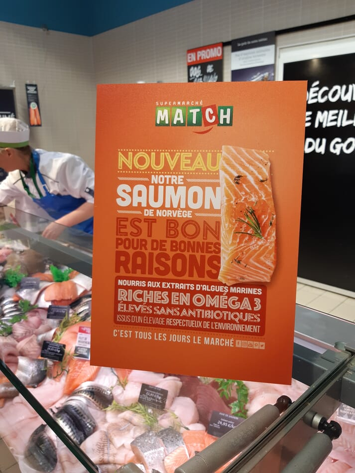 The salmon is now available in all Supermarché Match locations