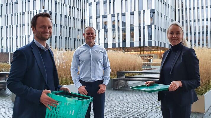 Lasse Johansen, Matts Johansen and Runa Haug Khoury