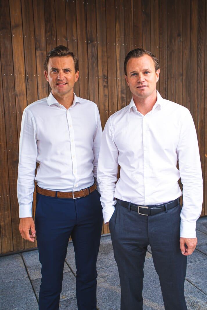 Kjetl Haga and Simen Landmark, co-founders of Bluefront Equity