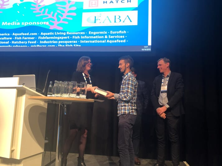 The Lindsay Laird Award is presented annually at the Aquaculture Europe conference
