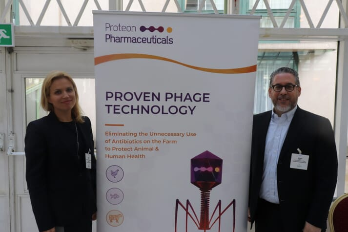 Proteon's Aneta Bronowska and Matthew Tebeau at last week's Aquaculture Innovation Europe conference