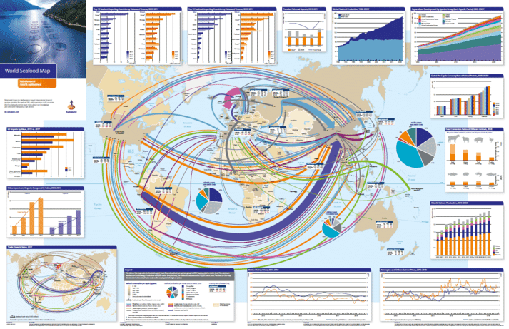 Rabobank's latest World Seafood Map covers $153 billion of seafood trade flows