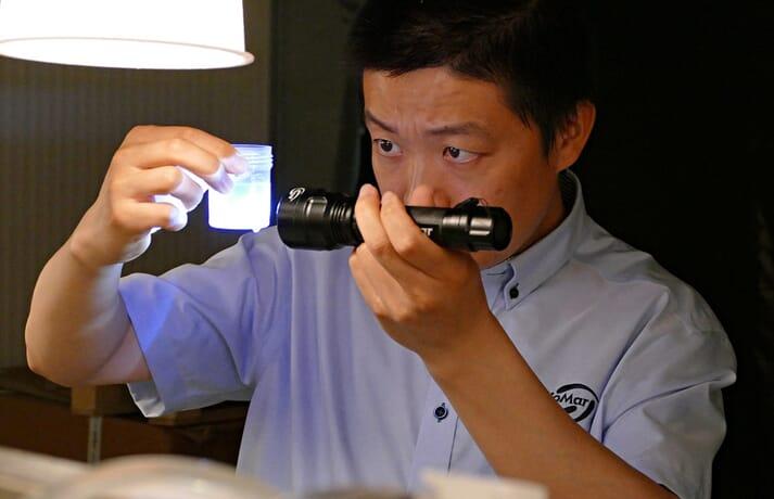 Keshuai Li, feed formulation scientist, at BioMar's ATC
