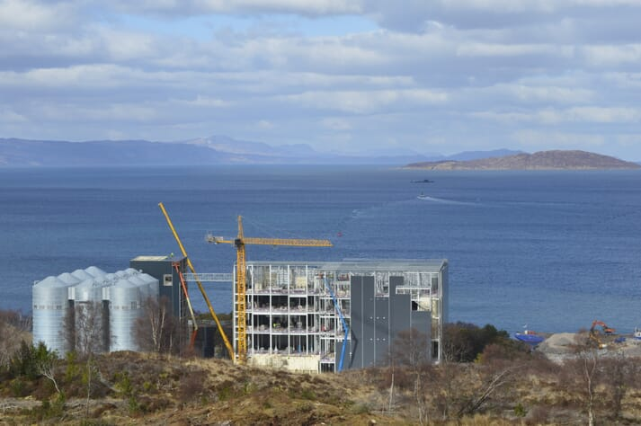 The Kyleakin mill will provide 55 full time jobs and produce up to 180,000 tonnes of salmon feed a year