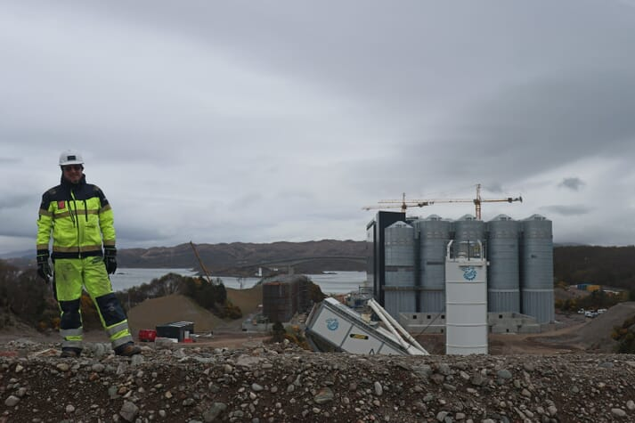 Mick Watts is in the process of building his second feed mill for Marine Harvest