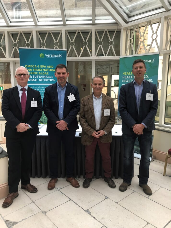 Mike Mitchell, Ian Carr, Laky Zervudachi and Rob Fletcher took part in a panel discussion on the prospects of algal oils at Aquaculture Innovation Europe