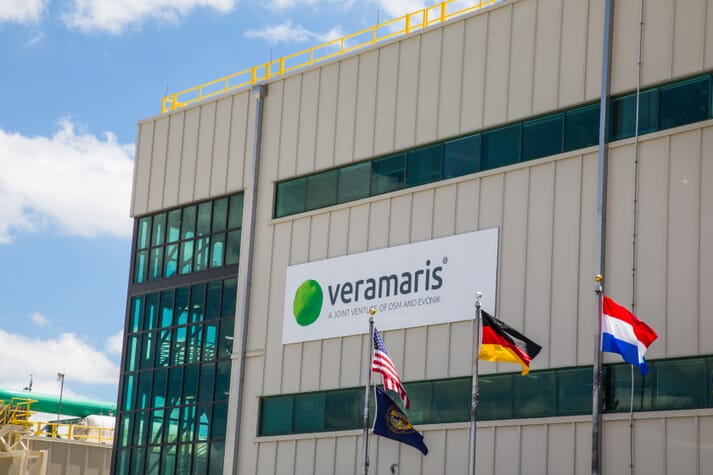 Veramaris, the joint venture of DSM and Evonik, held a topping-out ceremony on site in Blair, Nebraska