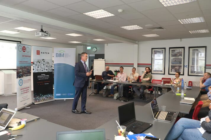 BIM's CEO, Jim O'Toole, welcomed the studio's successful applicants in 2019