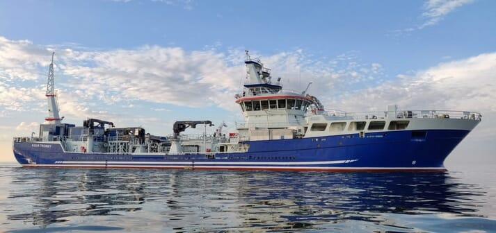 Canada's largest aquaculture vessel, Mowi Canada West's Aqua Tromoy