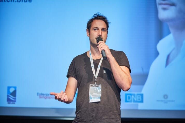 Hatch managing partner, Dr Carsten Krome, speaking at the recent final demo day in Singapore
