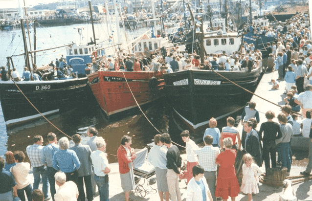 The Blessing of the Boats in Arklow: Kate grew up in a traditional fishing community - both her father and grandfather were fishermen