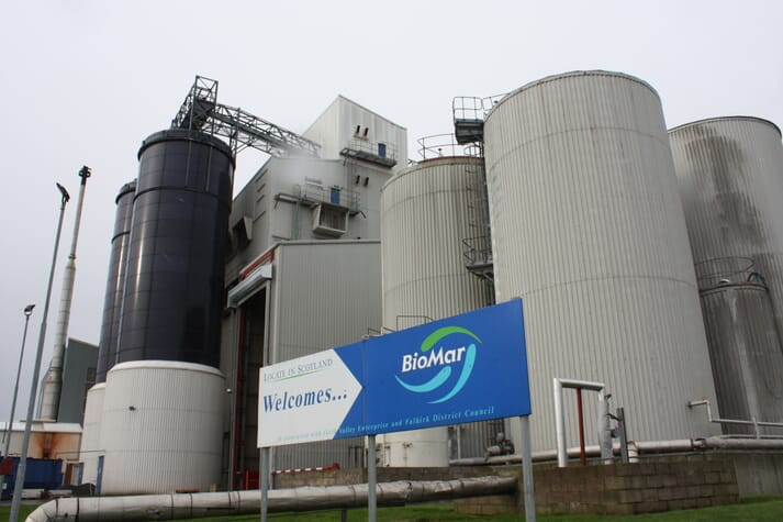 Biomar's feedmill in Grangemouth, Scotland.