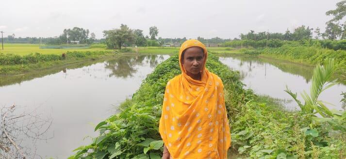 Fazila Begum has released over 10,000 carp fingerlings for on-growing