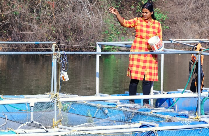 The partnership between Skylo and FISHCOPFED aims to improve Indian fish farmers' access to information relating to subjects including water quality parameters