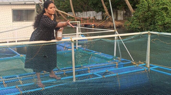 Smija MB has popularised cage farming among women in the Periyar region of India