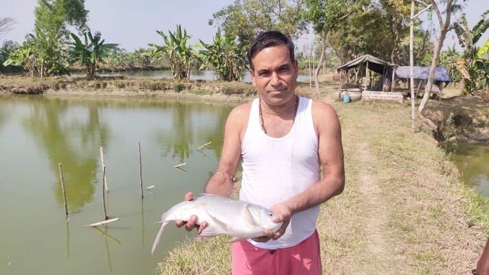 Uttam Khatua has been farming in West Bengal for three decades, using traditional methods